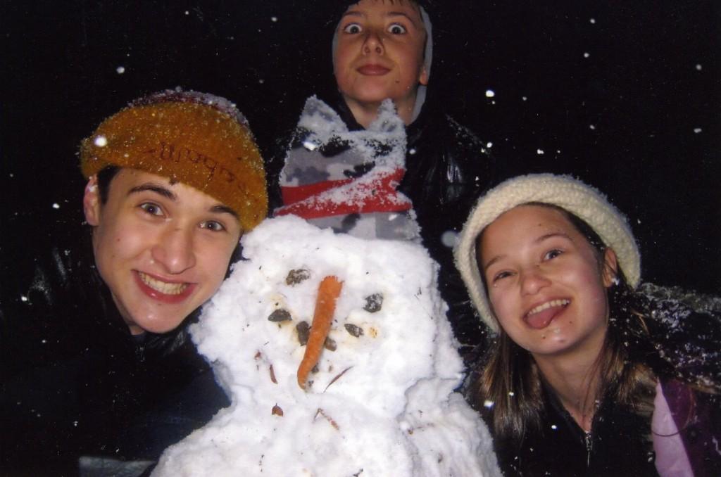Three of my favorite Larkin fans in a rare South Carolina snow.